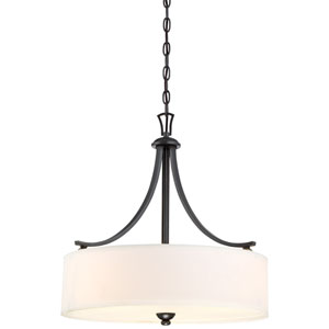 Shadowglen Lathan Bronze with Gold Highlight Three-Light Drum Pendant