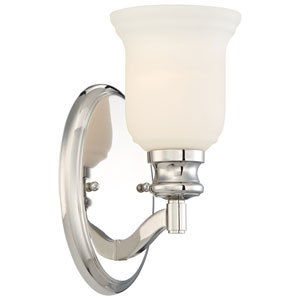 Audreys Point Polished Nickel One-Light Vanity