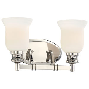 Audreys Point Polished Nickel Two-Light Vanity