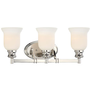 Audreys Point Polished Nickel Three-Light Vanity