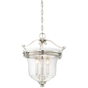 Audreys Point Polished Nickel Three-Light Pendant