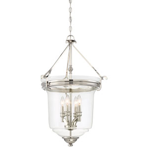 Audreys Point Polished Nickel Four-Light Bell Pendant