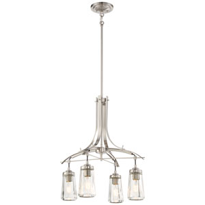 Poleis Brushed Nickel Four-Light Chandlier