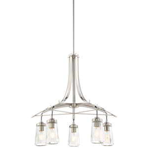 Poleis Brushed Nickel Five-Light Chandlier