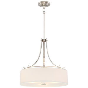 Poleis Brushed Nickel Three-Light Pendant