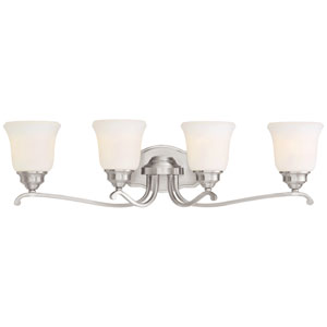 Savannah Row Brushed Nickel Four-Light Vanity