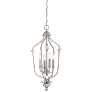 Savannah Row Brushed Nickel Four-Light 24-Inch Chandlier