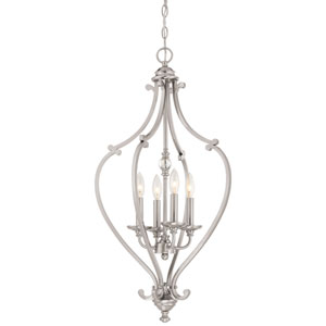 Savannah Row Brushed Nickel Four-Light 31.25-Inch Chandlier