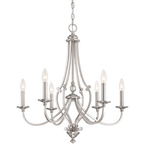 Savannah Row Brushed Nickel Six-Light Chandlier