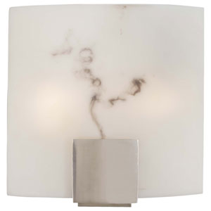 Brushed Nickel Fluorescent Flush Sconce