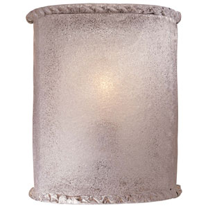 White Piastra One-Light Wall Sconce with White Piastra Glass