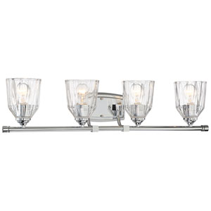 D-Or Chrome Four-Light Vanity
