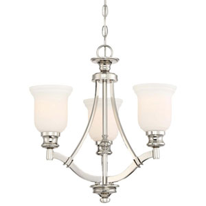 Audreys Point Polished Nickel Three-Light Chandlier