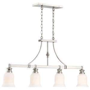 Audreys Point Polished Nickel Four-Light Linear Pendant