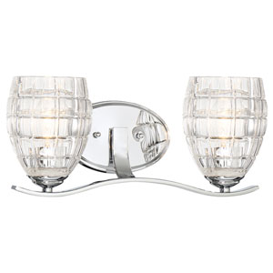 Austine Chrome Two-Light Vanity