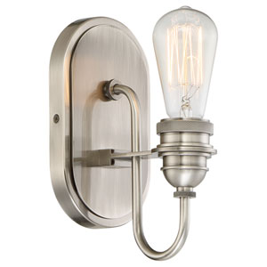 Uptown Edison Plated Pewter One-Light Vanity