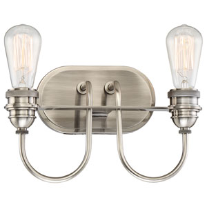 Uptown Edison Plated Pewter Two-Light Vanity