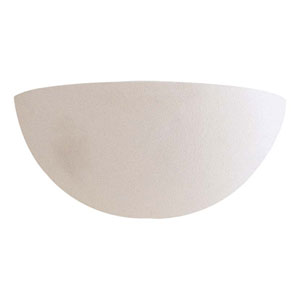 White Ceramic One-Light Wall Sconce