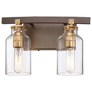 Morrow Harvard Court Bronze Two-Light Vanity