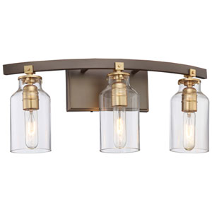 Morrow Harvard Court Bronze Three-Light Vanity