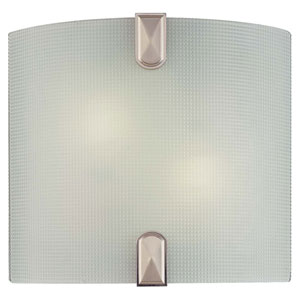 Two-Light Brushed Nickel Fluorescent Wall Sconce