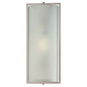 One-Light Brushed Nickel Fluorescent Wall Sconce