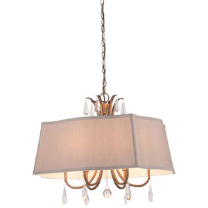 Vintage Gold 25-Inch Six-Light Pendant