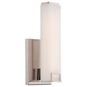 Square Polished Nickel 5-Inch One-Light LED Bath Sconce