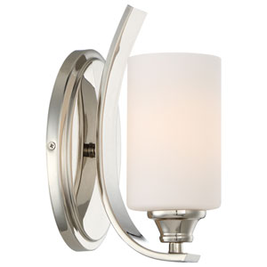 Tibury Polished Nickel One-Light Vanity