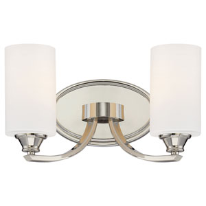 Tibury Polished Nickel Two-Light Vanity