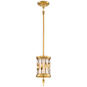 Olivetas Il Terrace Gold Leaf 6-Inch One-Light Mini Pendant