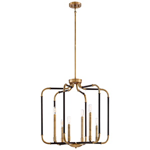 Liege Aged Kinston Bronze 25-Inch Six-Light Pendant