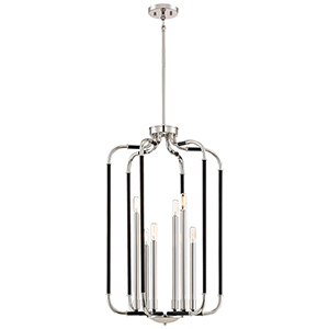 Liege Matte Black 19-Inch Five-Light Pendant