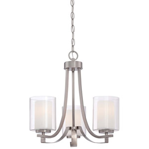 Parsons Studio Brushed Nickel 18-Inch Three-Light Chandelier