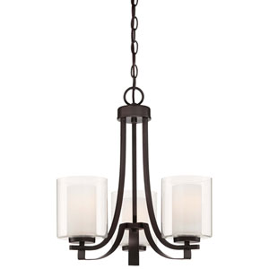 Parsons Studio Smoked Iron Three-Light Mini Chandelier