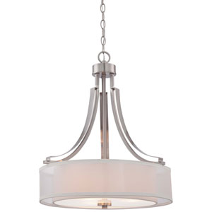 Parsons Studio Brushed Nickel 20.5-Inch Three-Light Drum Pendant