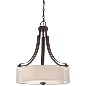 Parsons Studio Smoked Iron Three-Light Drum Pendant