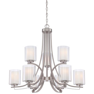 Parsons Studio Brushed Nickel 31.5-Inch Nine-Light Chandelier