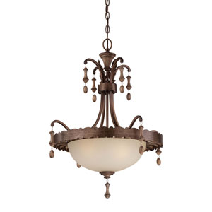 Candlewood Three-Light Bowl Pendant in Rustique Patina