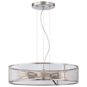 Downtown Edison Brushed Nickel Six-Light Pendant