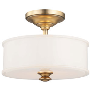 Harbour Point Liberty Gold Two-Light Semi-Flush