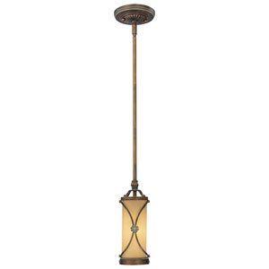 Atterbury Deep Flax Bronze One-Light Mini Pendant