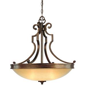 Atterbury Deep Flax Bronze Three-Light Pendant