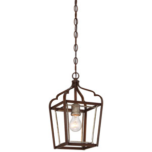 Astrapia Dark Rubbed Sienna 8-Inch One-Light Mini Pendant