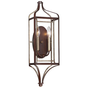 Astrapia Dark Rubbed Sienna 7-Inch Two-Light Wall Sconce