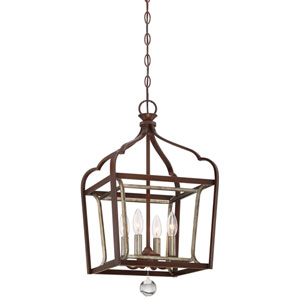 Astrapia Dark Rubbed Sienna 13-Inch Four-Light Pendant