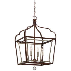 Astrapia Dark Rubbed Sienna 18-Inch Four-Light Pendant