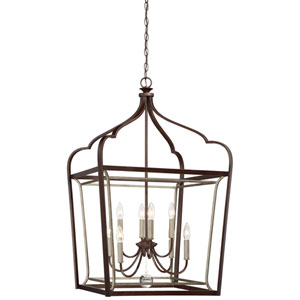 Astrapia Dark Rubbed Sienna Eight-Light Pendant