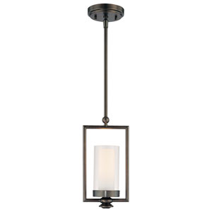 Harvard Court Bronze One-Light Mini Pendant