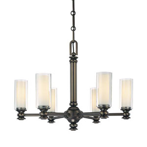 Harvard Court Bronze Six-Light Chandelier